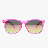 Glassy Sunhater Deric x Fight Sarcoma Sunglasses - Pink/Pink Mirror