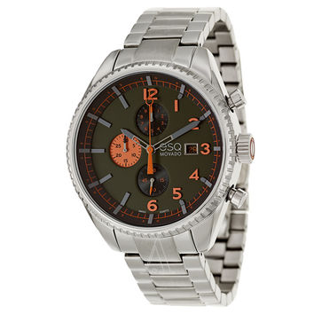 ESQ Movado? Catalyst Dark Green Dial Stainless Steel Mens Watch 07301447