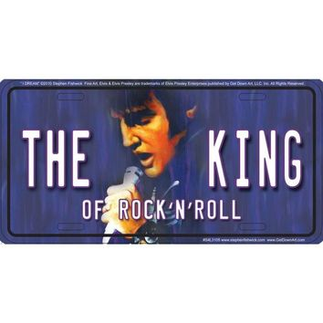 Signs 4 Fun S4L3105 Elvis the King License Plate