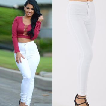 Stylish White Womens Skinny Jeans
