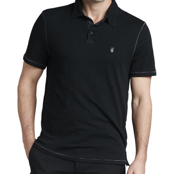 Pickstitched Slub Polo,