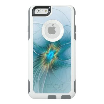 The little Beauty, Abstract Fractal Art with blue OtterBox iPhone 6/6s Case