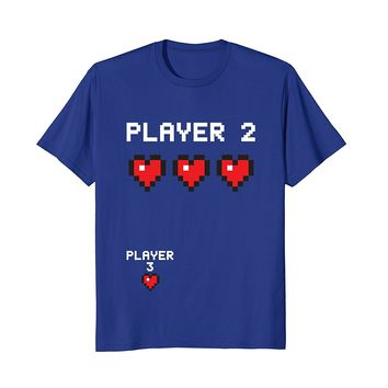 Player 3 T Shirt- Video Game Pregnancy Announcement Gamer