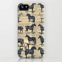 Horses Dictionary Art by Adidit iPhone Case by Adidit | Society6