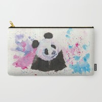 Panda Carry-All Pouch by KristinIllustration
