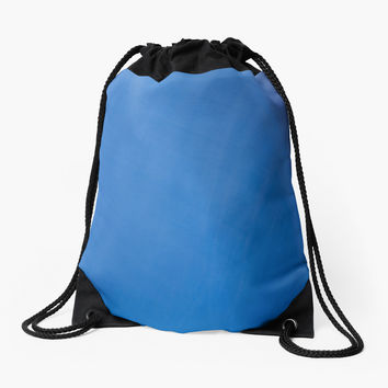 'Shades of Blue Abstract' Drawstring Bag by galerie503