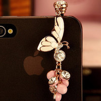 Crystal Butterfly IPhone 4/4s IPad Samsung Note by diamondiphone