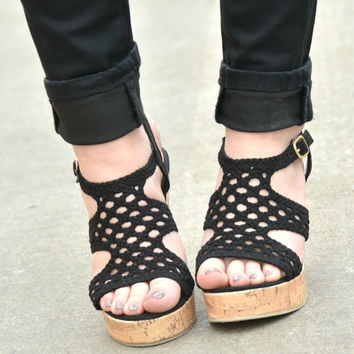 Sweet Escape Wedge - Black