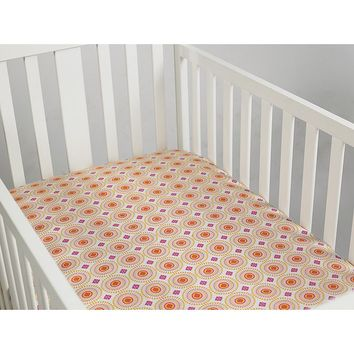 Happy Chic by Jonathan Adler Party Elephant Crib Sheet One Size (Pink)