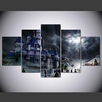 Frame 5 Panel Modern Printed Canvas Oil Painting Cuadros Decoracion Wall Picture For Living Room Unframed Modern Style ny/-003
