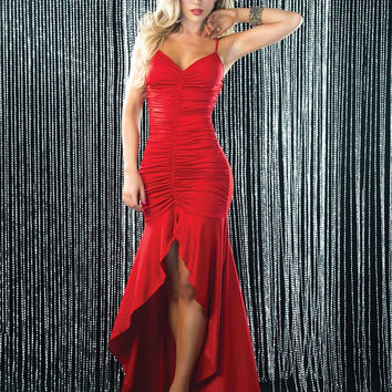 Ladder Back Salsa Gown
