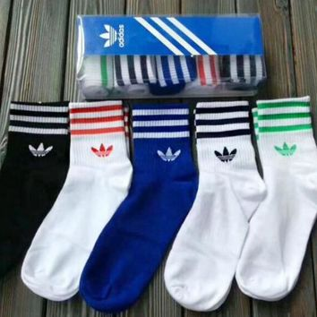Adidas Stylish Women Men Print Socks - Boxed I