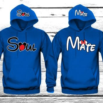 "Soul Mate ""Cute Couples Matching Hoodies"""