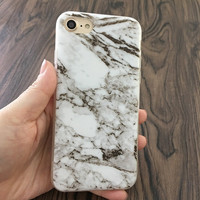 2017 Newest and Fashionest marble white Phone Case For iPhone 7 7Plus 6 6s Plus 5 5s SE