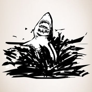 Vinyl Wall Decal Sticker Shark Attack #OS_DC103