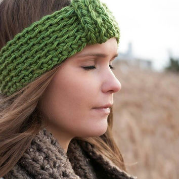 Womens crocheted Turban Headband, Crocheted Head Wrap, Earwarmers,Chunky Headbands,Winter accessories