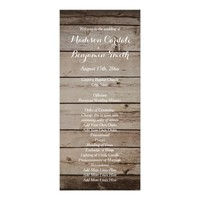 Antique Wood Rustic Country Wedding Programs