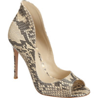 Gianvito Rossi Python High Back Pump at Barneys New York at Barneys.com