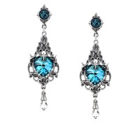 Alchemy Gothic Empress Eugenie Heart Earrings