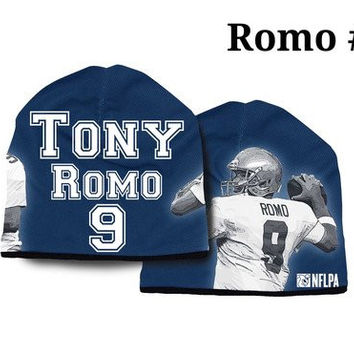 Dallas Cowboys Tony Romo #9 NFLPA Synthetic Stretch Beanie One Size Unisex Adult