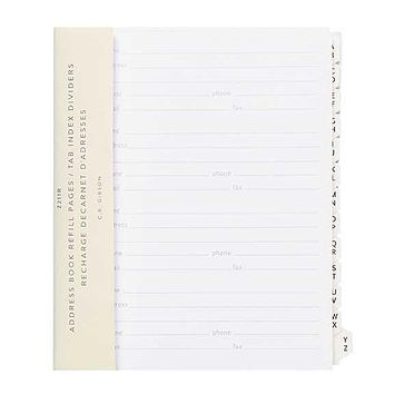 Address Book Refill Pages/Tab index Dividers