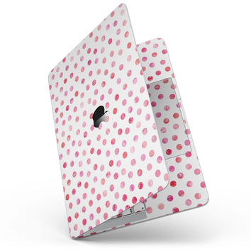 Pink Watercolor Dots over White - MacBook Pro without Touch Bar Skin Kit