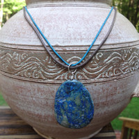 Hippy Jewelry, Hippy Necklace, Hippie Jewellry, Lapis Lazuli Necklace, Lapis Lazuli Pendant Necklace, Pendant Necklace, Earth Tone Necklace