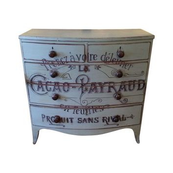 Pre-owned French Rustic Painted Chest of Drawers