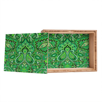 Aimee St Hill Paisley Green Jewelry Box