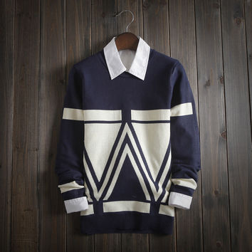 Mens Ethnic Style Warm Sweater