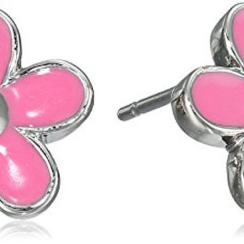 Marc Jacobs Daisy Bright Rose Stud Earrings