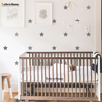 Custom Color Stars Wall Sticker DIY Baby Nursery