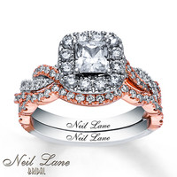 Neil Lane Bridal Set 1 7/8 ct tw Diamonds 14K Two-Tone Gold