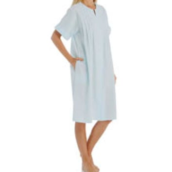 Miss Elaine 854685 Seersucker Short Snap Front Robe