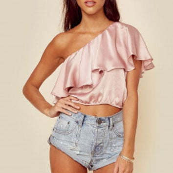 SOPHIE RUFFLE TOP