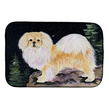 Starry Night Tibetan Spaniel Dish Drying Mat SS8504DDM
