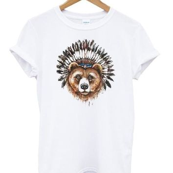 Bear Headdress Custom Men's Gildan Adult T-Shirt