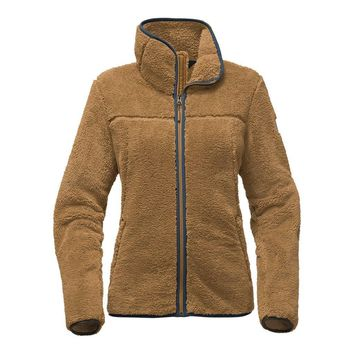 Women's Campshire Full Zip Sherpa Fleece in Biscuit Tan by The North Face