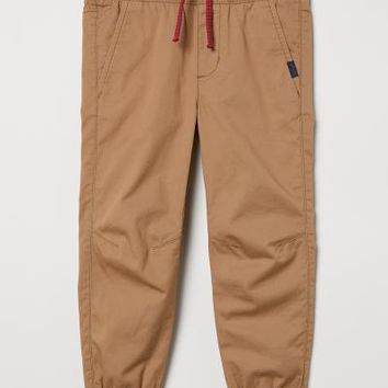 Cotton Pull-on Pants - Dark beige - Kids | H&M US