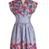 Myrtlewood Long Sleeveless A-line On the Scene Dress in Lilac