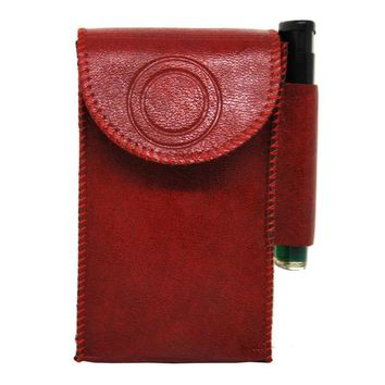 VONC1Y Fashion leather cigarette box soft cigarette lighter leather cigarette case cover