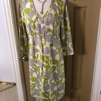 Boden Womens Green Ivory Gray Womens Dress Size 10