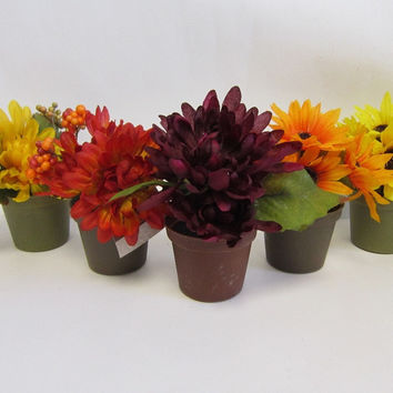 assorted fall floral arrangements Case of 120