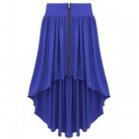 Bqueen Asymmetrical Maxi Skirt Blue BY147L - Designer Shoes|Bqueenshoes.com