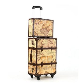 Old World Trolley Suitcase