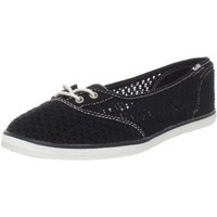 Keds Women`s Too Cute Crochet Flat,Black,7 M US