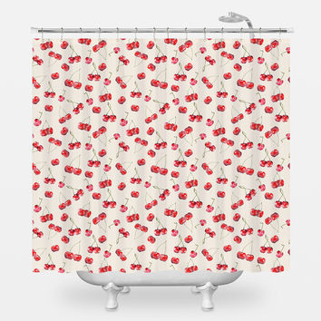 Cherry Pattern Shower Curtain