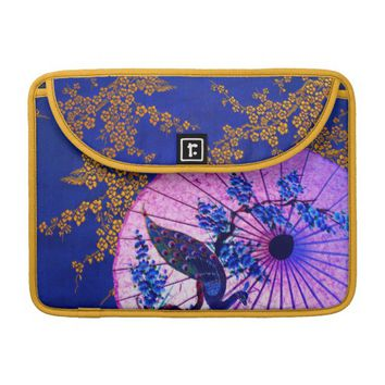 Oriental foral peacock parasol mac book pro MacBook pro sleeve