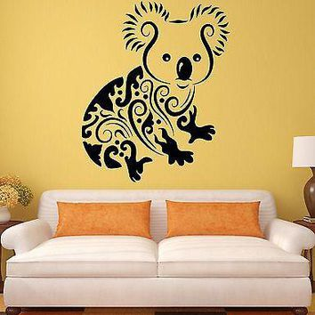 Wall Stickers Koala Funny Animals Kids Room Art Mural Vinyl Decal Unique Gift (ig1920)