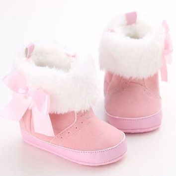 Super Warm Infant Soft Bottom Snow Boots Lace Up Baby Boys Girls Shoes Baby Prewalker Boots